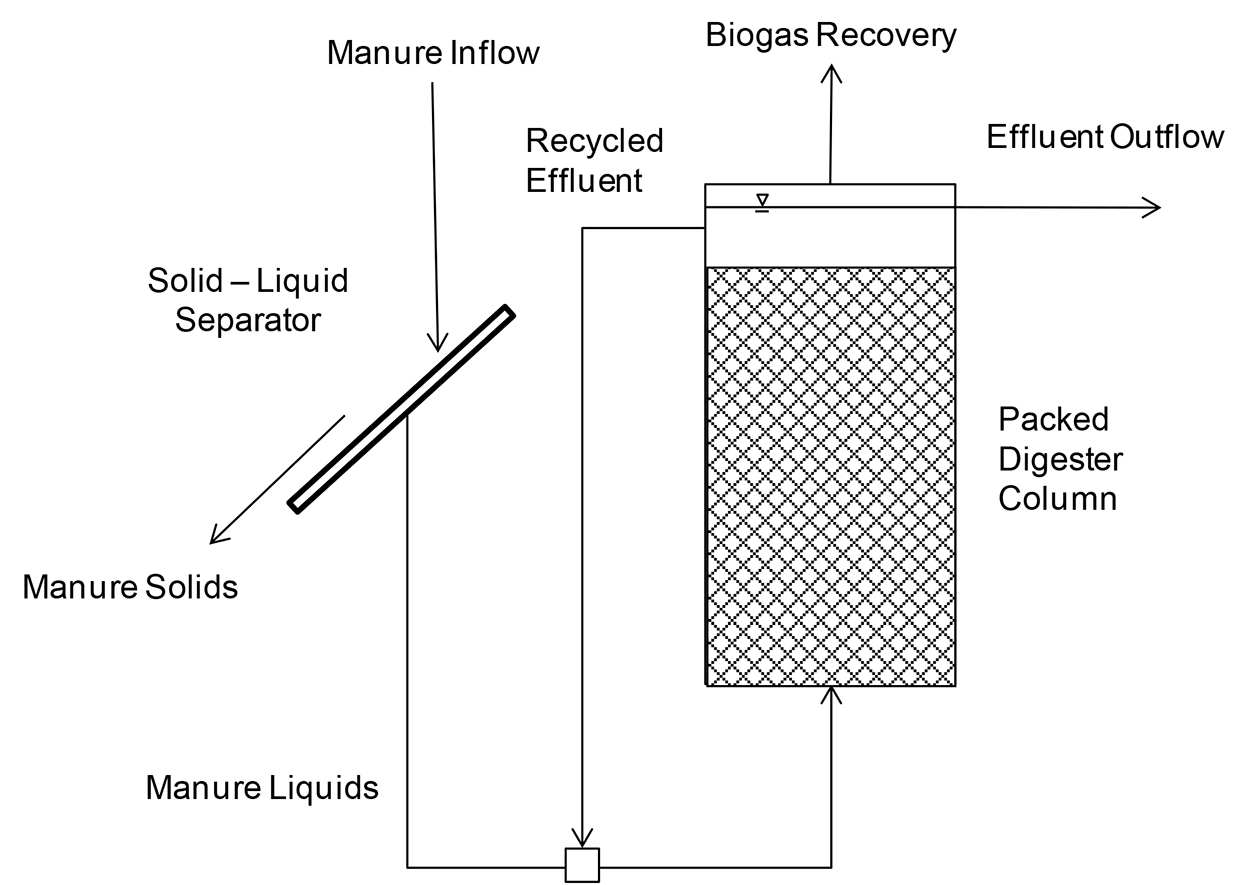 Schematic drawing of a Fixed Film Digestion System.
