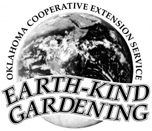 Oklahoma Cooperative Extension Service Earth-Kind Gardening Logo.