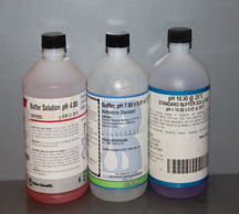 pH buffer solutions.