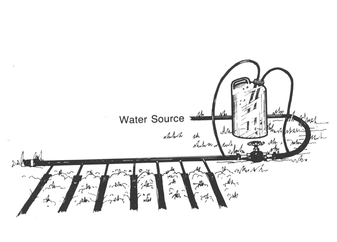 Fertilizer Injection Method for Small Scale Drip Systems.