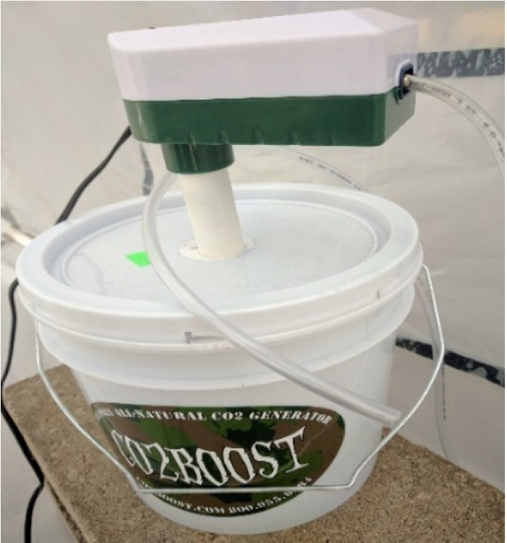 CO2 boost Bucket with pump.