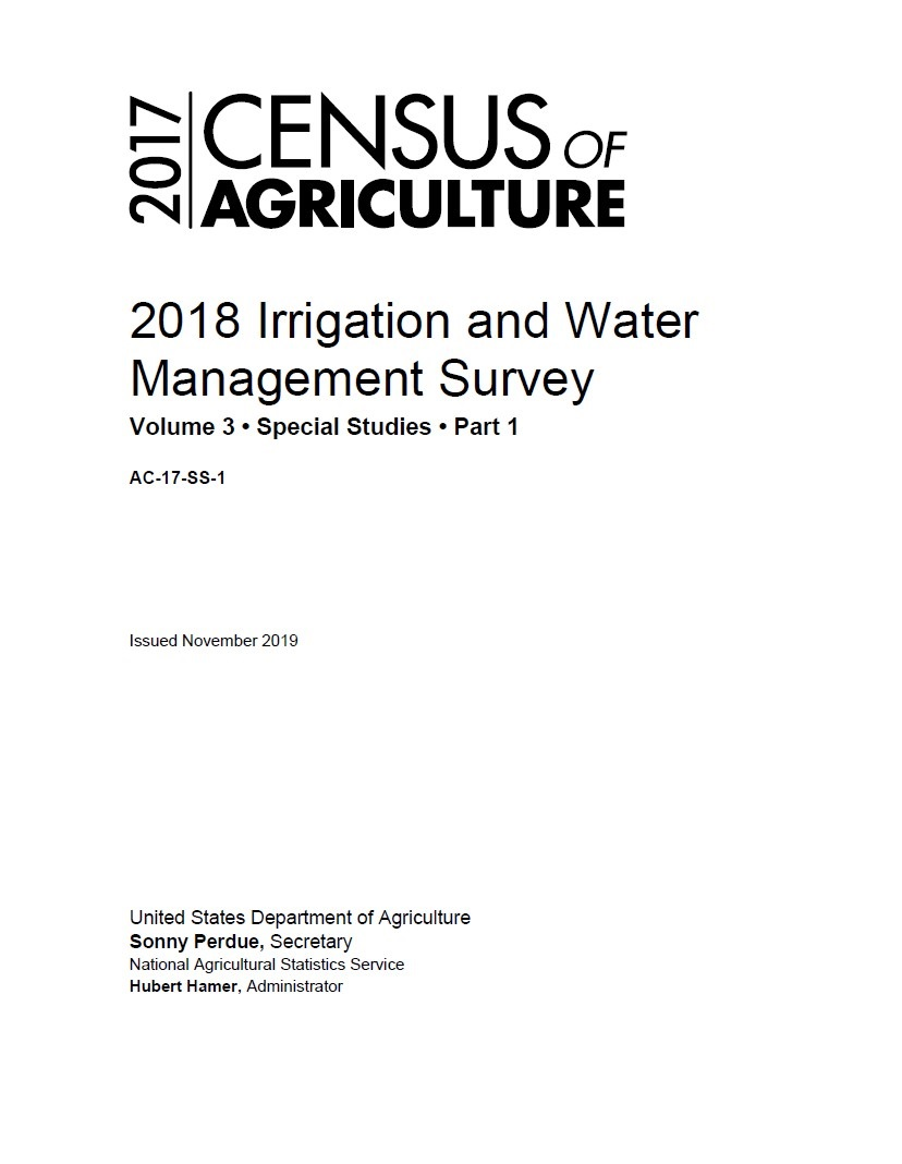 The 2018 survey cover page