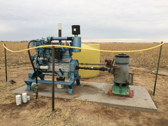 A natural gas engine extracts groundwater for irrigation