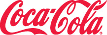 "The words ""coca-cola"" in cursive writing for the company logo."