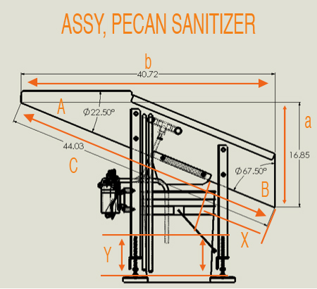 Pecan sanitizer Assy dim sheet.