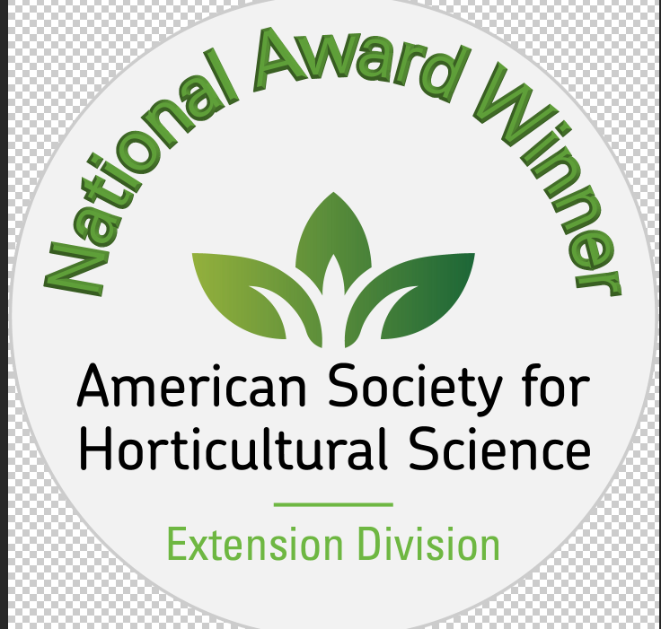National Award Winner logo for the American Society for Horticulture Science.