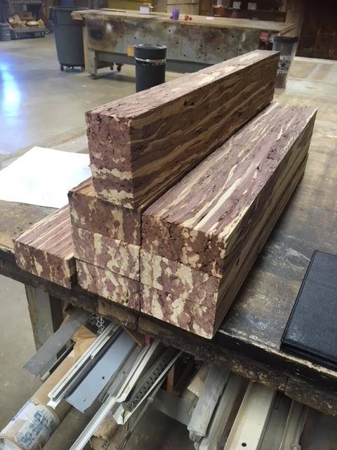 A stack of two-feet long billets.
