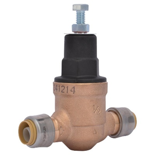 Figure 7. A brass valve used to regulate pressure at the point of connection to the water supply. (photo from www. homedepot.com).