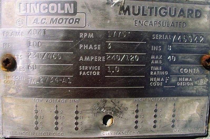 Understanding Motor And Gear Drive Nameplate Information