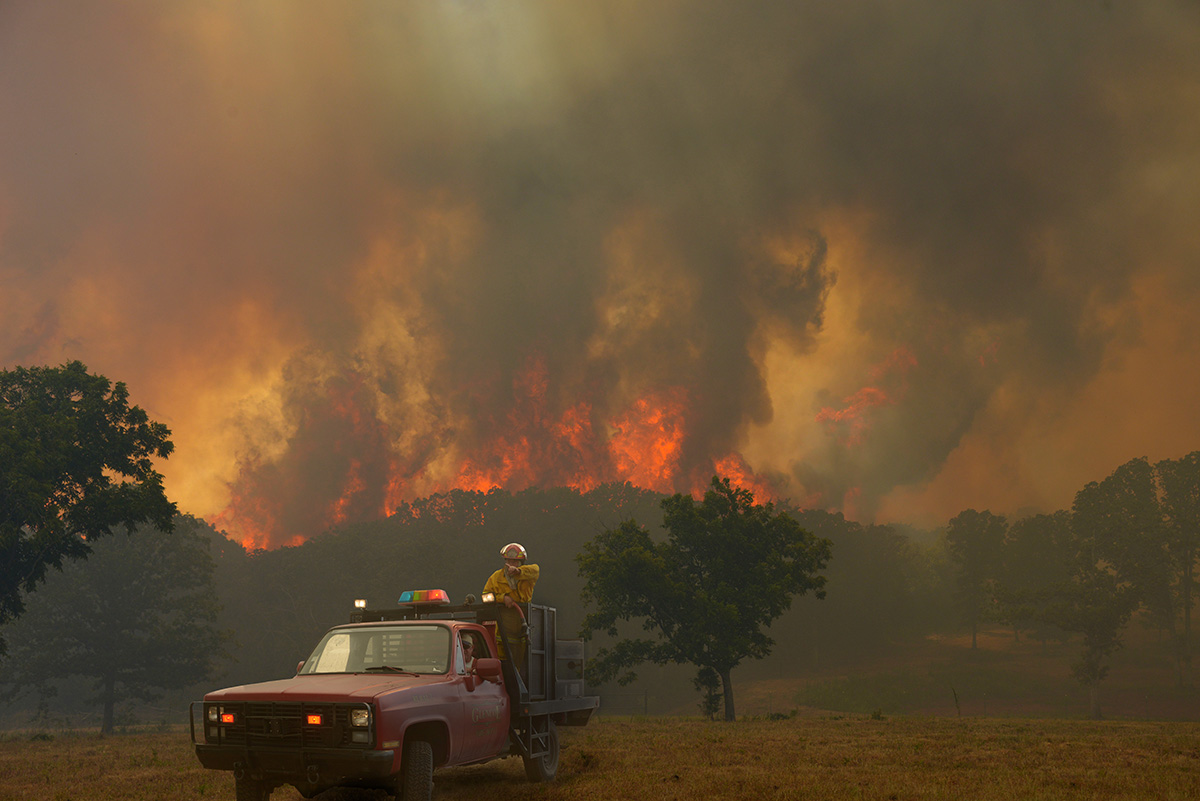 Wild Fire east of Stillwater consumed nearly 1000 acres and 8 structures.